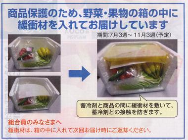 おうちコープの野菜の通い箱