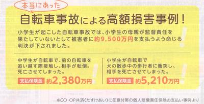 CO-OP共済個人賠償高額支払事例