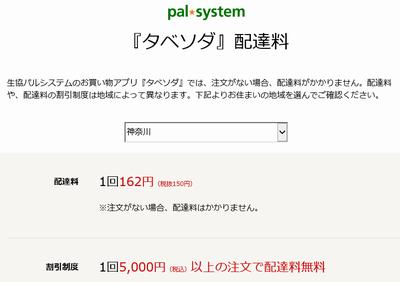 タベソダ 神奈川 手数料(小)